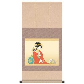 上村松園 作品 「鼓の音」 掛軸 インテリア