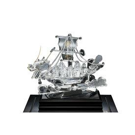 水晶 龍頭寶船