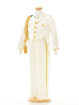 男の子タキシード1BD0011〔110cm〕白制服風《2015年7月入荷》