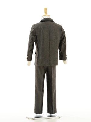 男の子タキシード1BD0025〔110cm〕男児タキシード黒チェック《2015年7月入荷》