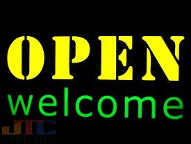 【LED看板はメーカーの生産終了に伴い、今ある在庫限りで販売終了となります。】OPEN WELCOME オープン LED オレンジ ブルー ネオン看板 ネオンサイン 広告 店舗用 アメリカン雑貨 看板 ネオン管