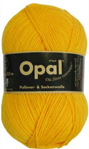 毛糸 Opal オパール 靴下用毛糸 Uni 5182 / イエローてあみ かぎ針 棒針 ニット 手編み 編み物 手芸 ハンドメイド 手作り
