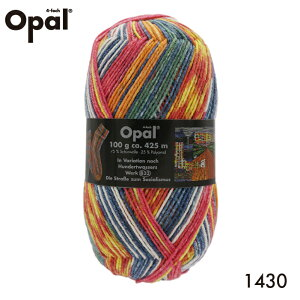 毛糸 Opal オパール 靴下用毛糸 Hundertwasser 1430てあみ かぎ針 棒針 ニット 手編み 編み物 手芸 ハンドメイド 手作り