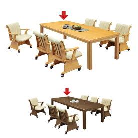 ダイニングこたつテーブル ダイニングテーブル こたつ 長方形 195 ハイタイプ 単品/ダイニングこたつ ダイニングコタツ 6人用 6人掛け 195×90 布団なし 家具 | おしゃれ ブラウン ナチュラル アウトレット セール