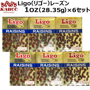 Ligo リゴー レーズン 1oz(28.35g)×6箱 シードレス raisins