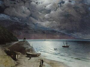 油絵 イヴァン・アイヴァゾフスキー グルズフの夜 P12サイズ P12号 606x455mm 油彩画 絵画 複製画 選べる額縁 選べるサイズ