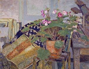 油絵 エドゥアール・ヴュイヤール 鉢植えの花 F12サイズ F12号 606x500mm 油彩画 絵画 複製画 選べる額縁 選べるサイズ