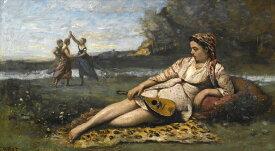 絵画 インテリア 額入り 壁掛け複製油絵ジャン=バティスト・カミーユ・コロー スパルタの若い女性 F20サイズ F20号 727x606mm 絵画 インテリア 額入り 壁掛け 油絵
