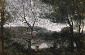 絵画 インテリア 額入り 壁掛け複製油絵ジャン=バティスト・カミーユ・コロー ヴィル=ダヴレー M15サイズ M15号 652x455mm 油彩画 複製画 選べる額縁 選べるサイズ