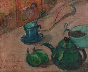 油絵 エミール・ベルナール 急須とカップとフルーツのある静物 F12サイズ F12号 606x500mm 油彩画 絵画 複製画 選べる額縁 選べるサイズ