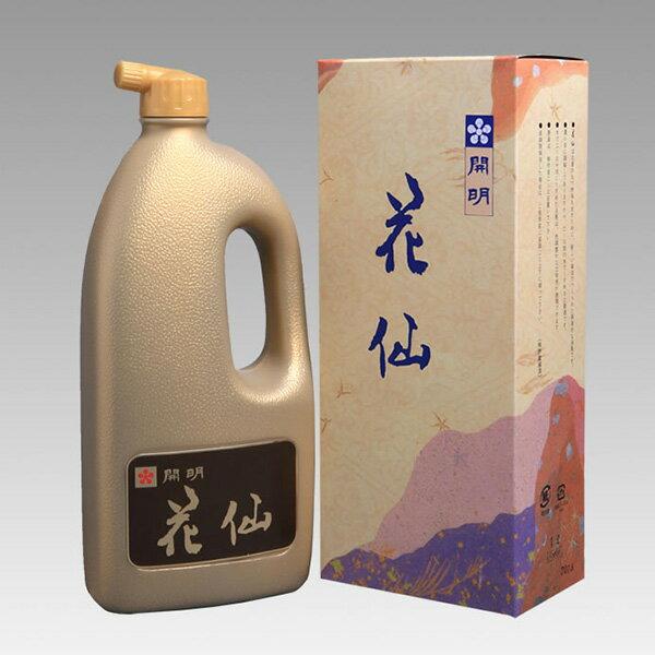 【開明】 花仙 1L(1000ml) 最高級古墨調墨汁 『墨液 墨汁 墨 書道用品』T 送料無料
