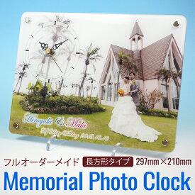 写真入り時計 オリジナル時計 オーダーメイド ウェディング プレゼント 贈り物 写真印刷 子供 孫 結婚祝い 周年記念 出産祝い 入学 入園 旅行 趣味 セイコームーブメント
