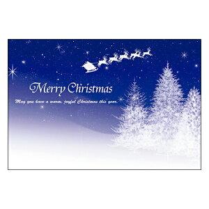 クリスマスカード サンタクロース サンタ 【DMC-062】10枚パック メッセージカード ハガキサイズ デザインメッセージカードにクリスマスカード登場!【クリスマスデザインの絵柄面はプリン