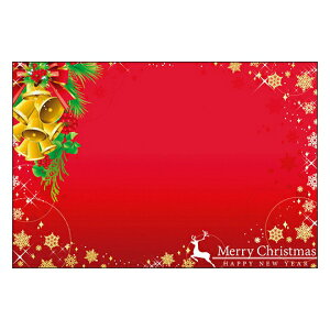クリスマスカード サンタクロース サンタ 【DMC-067】10枚パック メッセージカード ハガキサイズ デザインメッセージカードにクリスマスカード登場!【クリスマスデザインの絵柄面はプリン