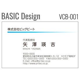 [8color]《100枚入》【名刺印刷】お洒落な名刺作成 デザイン名刺 ビジネス名刺 ベーシックデザイン[VCB-001]《100枚入》【ネコポス送料無料】