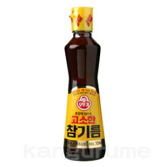 """""""オットギ"""" sesame oil 320 ml ■ Korea food ■ low-price / Korea / Korea food / seasoning / Korea seasoning / Korea sesame oil / Korea sesame oil / sesame oil and sesame oil"""