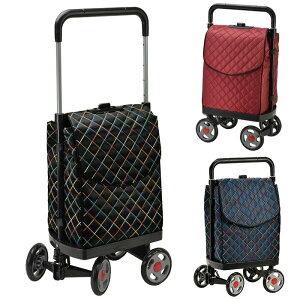 ショッピングカート 大型車輪 #15176 エコバッグ お買い物カート 持ち手 4段調節 ショッピングキャリー カート ギフト 買い物カート 送料無料