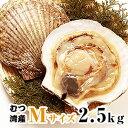 青森県むつ湾産活ほたて Mサイズ 2.5kg (12枚~14枚)「活ほたて、ホタテ、帆立、ほたて」