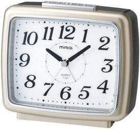 【9/19-24ポイント最大44倍】【送料無料】1年間保証書付 夜間点灯 目覚まし時計 置き時計 ブリリア シャンペンゴールド アラーム・スヌーズ機能 暗くなるとライトが自動点灯 アナログ時計
