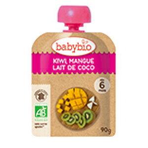 3009327-os baby bio 有機ベビースムージー キウイ・マンゴー・ココナッツ90g【ミトク】【1〜6個はメール便対応可】