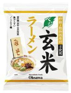 3006686-os オーサワのベジ玄米ラーメン(みそ) 118g(うち麺80g)【オーサワ】