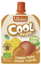 【1〜6個はメール便対応可】【春夏限定】【ミトク】Vitabio クールフルーツ(アップル・ピーチ・アプリコット) 90g