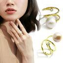 指輪 リング スワロフスキー バロックパール ジルコニア リング 指輪 8mm-10m-12mm 指輪 レディース 大粒 バロック真…