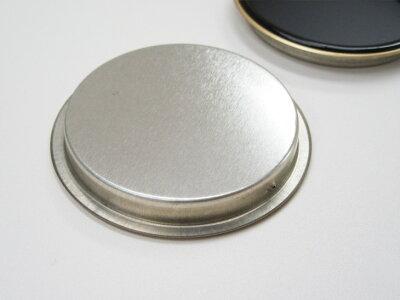 襖引手黒/金縁表面70mm底寸法60mmH-05引手2個と引手用釘4本入安いシンプル取っ手金物