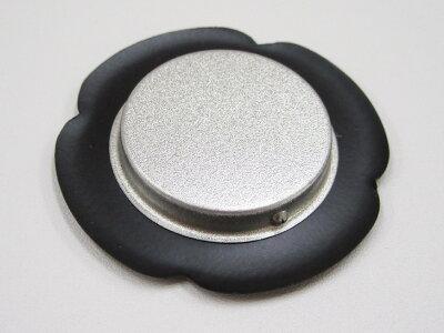 襖引手金丸/黒縁花びら枠表面48mm底寸法30mm引手2個と引手用釘4本H-08取っ手