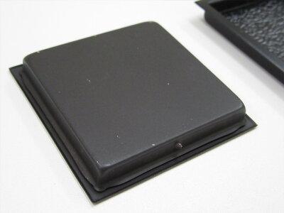 四角黒模様表面59mm底寸法54mm引手2個と引手用釘4本H-09取っ手金物