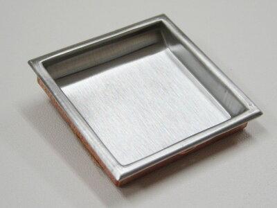 襖引手小さいステンレス四角引手2個と引手用釘2本表面38mm底寸法34mm角H-32取っ手シンプルモダン