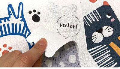 壁紙シール貼ってはがせるウォールステッカー「のんびりネコちゃん」壁ペタっステッカー【クリックポスト送料無料】