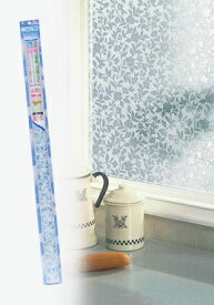 ガラスシート 水を使わずピタッと貼れる♪ 装飾・目隠し窓ビジョン VMP-L16 ロマネスク 92cm×90cmUV(紫外線)カット ガラスの飛散防止効果 防災対策