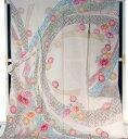 振袖 購入 販売 正絹 仮縫い アウトレット 生地 教材 絹生地 【 未仕立て 中古品扱い 】
