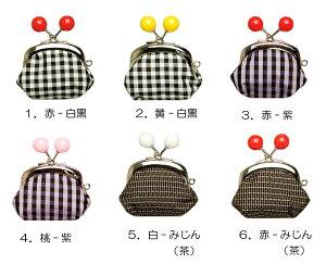 「わたしはポップな大島紬」シリーズ本場大島紬使用ミニがま口5