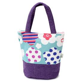 綿バッグ レディース 手提げ カジュアル トート 浴衣 夏用 小さめ 水色 紫 花柄 ドット 女性用 婦人物 着物 和装