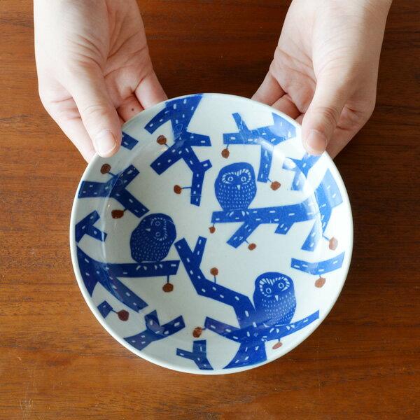 倉敷意匠×kata kata 印判手なます皿 ふくろう【小皿 小鉢 中皿 鍋 取り皿 和食器 おしゃれ かわいい 国産 日本製】