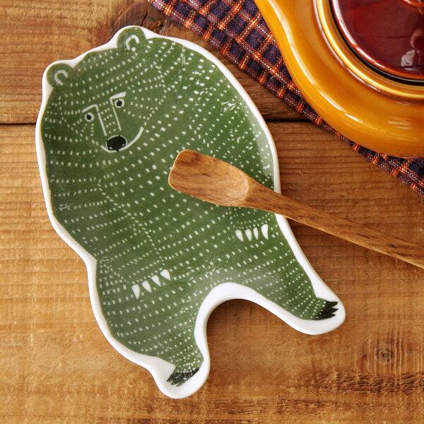 倉敷意匠×kata kata 印判手中皿 クマ【小皿 小鉢 鍋 取り皿 和食器 おしゃれ かわいい 国産 日本製】