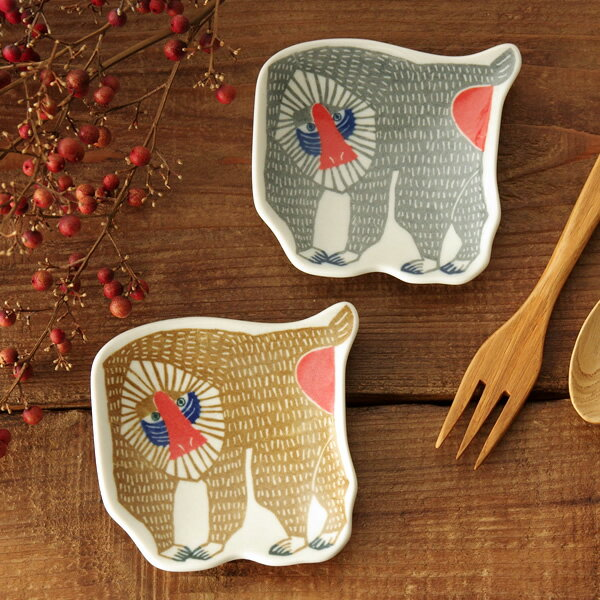 倉敷意匠×kata kata 印判手豆皿 マンドリル【小皿 鍋 取り皿 和食器 おしゃれ かわいい 国産 日本製】