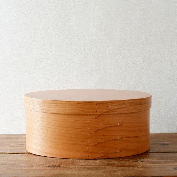 シェーカーボックス オーバル(チェリー) #4 [BR001-4]【北欧 トレー トレイ 木製 無垢 桜 ふた付き スタッキング 裁縫箱 ソーイングボックス】