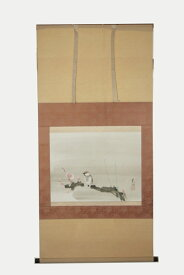 掛軸 結城素明『梅雀図』共箱 工芸画 中古 #14006T
