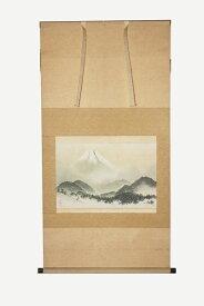 掛軸 横山大観『雪峰富士図』共箱 工芸画 中古 #14014T