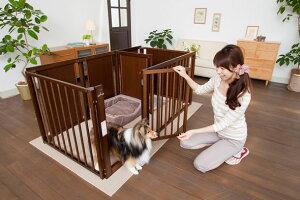 ペットサークル 犬用 [ サークル プラス F 80 Lp ] 中型犬 大型犬 サークル 多頭飼い 室内用 木製 日本製 ペット家具