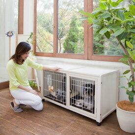 犬 ケージ 犬 ゲージ 「ペットケージ ハウス AS 120」木製 小型犬 ケージ 小型犬 ゲージ 室内用 キャスター付き 屋根付き