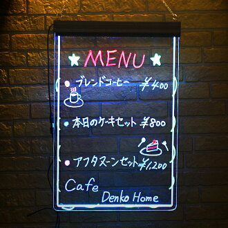 Glowing signs clear Panel skeleton writing Board neon signs 600 × 400 hanging type hanging neon signs lightning posted Board electronic billboards / clear / transparent / message board / signboard / handwritten signs and clear the Board