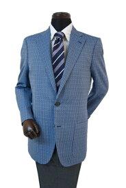 ヒッキーフリーマン メンズジャケット ドビー柄 ブルー シルク100% A7 AB4 AB5 AB6 AB7 2l9