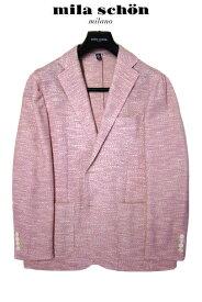 ミラショーン メンズジャケット ピンク 軽量 スラブ織 春夏物 S M L XL(LL)