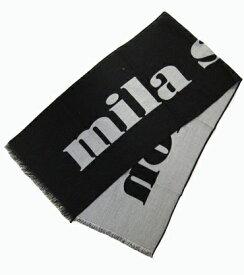 マフラー ストール ミラショーン ブランドロゴ お洒落 イタリアインポート ブラック レッド ネイビー グレー 4カラー