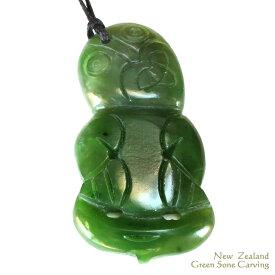 安産・健康祈願 天然石ペンダントニュージーランド マオリカービング ペンダントグリーンストーン ジェイド