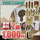 【送料無料 1000円 ポッキリ 】 奥信濃 味麓庵「四季の膳」山菜釜めし(おこわ)160g×2袋